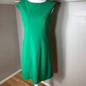 Vince Camuto Emerald Green Pleated Sheath Dress